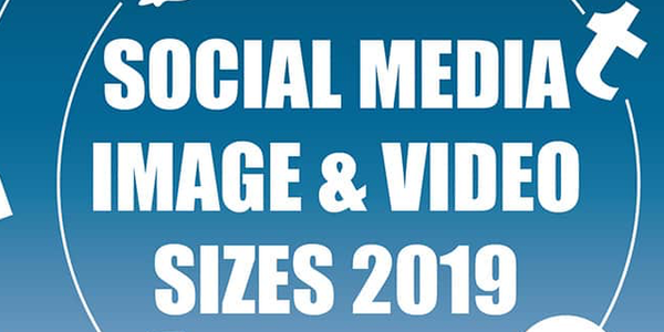 Infografik: Die Bildgrößen von Facebook, Twitter, Instagram, Pinterest und LinkedIn 2019